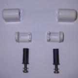 Easy Top Blind Fixing White Toilet Seat Bar Hinges - 03065420
